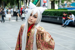 Unidentified Japanese anime cosplay pose in Japan Festa in Bangkok 2013 Stock Photography