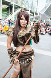 Unidentified Japanese anime cosplay pose in Japan Festa in Bangkok 2013 Royalty Free Stock Photography