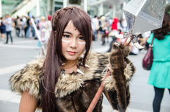 Unidentified Japanese anime cosplay pose in Japan Festa in Bangkok 2013 Stock Images