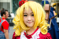 Unidentified Japanese anime cosplay pose in Japan Festa in Bangkok 2013 Stock Photos