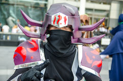 Unidentified Japanese anime cosplay pose in Japan Festa in Bangkok 2013 Stock Image