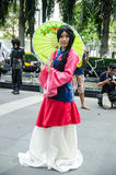An unidentified Japanese anime cosplay pose in Japan Festa in Bangkok 2013 Stock Photography