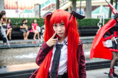 An unidentified Japanese anime cosplay pose in Japan Festa in Bangkok 2013 Stock Photo