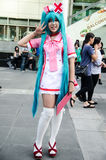 An unidentified Japanese anime cosplay pose in Japan Festa in Bangkok 2013 Royalty Free Stock Photography