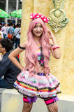 An unidentified Japanese anime cosplay pose in Oishi World Cosplay Fantastic 7 Stock Image