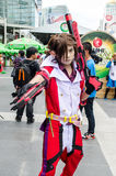 An unidentified Japanese anime cosplay pose in Oishi World Cosplay Fantastic 7 Stock Photo