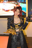 An unidentified Japanese anime cosplay pose in Thailand Game Show BIG Festival 2013 Stock Photo