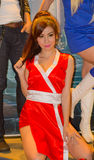 An unidentified Japanese anime cosplay pose in Thailand Game Show BIG Festival 2013 Royalty Free Stock Photography
