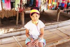 Unidentified Karen tribal girl near Mae Hong Son, Thailand royalty free stock photography