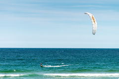 Unidentified kite surfer royalty free stock photos