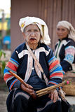 Unidentified Lahu tribe old woman Royalty Free Stock Images