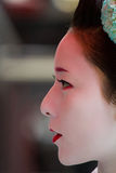 Unidentified Maiko on houjoue event. KYOTO, JAPAN - JUNE 5: Unidentified Maiko on houjoue event stands on the famous Shirakawa street in the Gion district on Stock Image