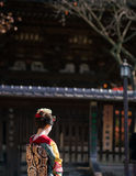 Unidentified maiko standing Royalty Free Stock Photo
