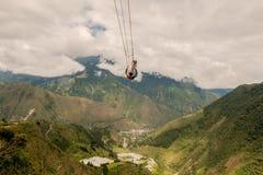 Unidentified Man Swinging Stock Image