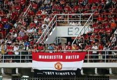 Unidentified Man Utd. supporters. Bangkok - July 13:Unidentified Man Utd. supporters during Singha 80th Stock Photo