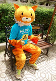 Unidentified man wearingTiger cosplay suit Stock Image