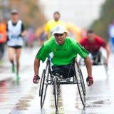 Unidentified marathon runner Stock Images