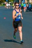 Unidentified marathon runner competes Stock Image