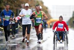 Unidentified marathon runners Stock Image