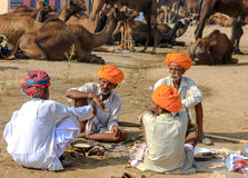 An unidentified men attends the Pushkar fair Royalty Free Stock Images