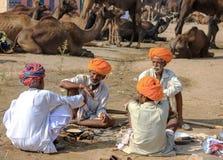 An unidentified men attends the Pushkar fair Royalty Free Stock Photos