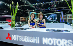 Unidentified Model at Mitsubishi booth Stock Image