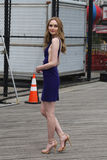 Unidentified model during photo shoot at Coney Island Boardwalk in Brooklyn Stock Photo