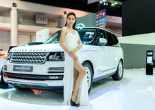 Unidentified Model with Range Rover Stock Images