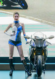 Unidentified Model with Yamaha R1m Stock Photo