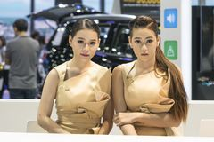 Unidentified modellings present at Motor Show. Bangkok-Thailand-3 December 2017: Unidentified modellings present at Motor Show Muangthong 2017 - The biggest Stock Photos