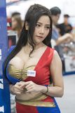 Unidentified modellings present at Motor Show. Bangkok-Thailand-3 December 2017: Unidentified modellings present at Motor Show Muangthong 2017 - The biggest stock images