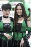Unidentified 2 modellings present at Motor Show. Bangkok-Thailand-3 December 2017: Unidentified modellings present at Motor Show Muangthong 2017 - The biggest Royalty Free Stock Image