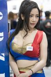 Unidentified modellings present at Motor Show. Bangkok-Thailand-3 December 2017: Unidentified modellings present at Motor Show Muangthong 2017 - The biggest stock photography