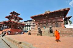 Unidentified monk prays during Buddha Jayanti Stock Photo