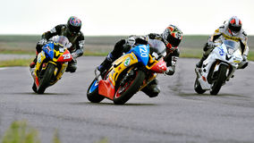 Unidentified moto riders Royalty Free Stock Photography