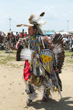 Unidentified Native American dancer at the NYC Pow Wow in Brooklyn Royalty Free Stock Photography