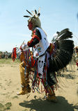 Unidentified Native American dancer at the NYC Pow Wow in Brooklyn Stock Photos