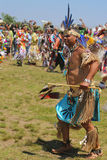 Unidentified Native American dancer at the NYC Pow Wow in Brooklyn Royalty Free Stock Images
