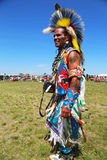 Unidentified Native American dancer at the NYC Pow Wow in Brooklyn Stock Photography