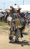 Unidentified Native American dancers at the NYC Pow Wow in Brooklyn Stock Image