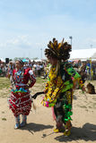 Unidentified Native American dancers at the NYC Pow Wow in Brooklyn Stock Photography