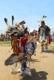 Unidentified Native American dancers at the NYC Pow Wow in Brooklyn Royalty Free Stock Image