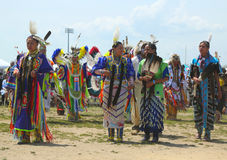 Unidentified Native American dancers at the NYC Pow Wow in Brooklyn Stock Images