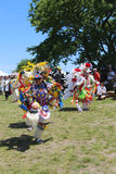 Unidentified Native American dancers at the NYC Pow Wow in Brooklyn Stock Photos