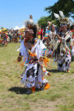 Unidentified Native American dancers at the NYC Pow Wow in Brooklyn Royalty Free Stock Photo