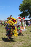 Unidentified Native American dancers at the NYC Pow Wow Royalty Free Stock Image