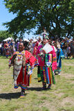 Unidentified Native American dancers at the NYC Pow Wow Stock Photo
