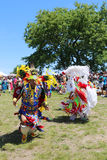 Unidentified Native American dancers at the NYC Pow Wow Royalty Free Stock Images