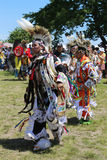 Unidentified Native American dancers at the NYC Pow Wow Stock Images