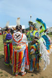 Unidentified Native American family at the NYC Pow Wow Stock Photography